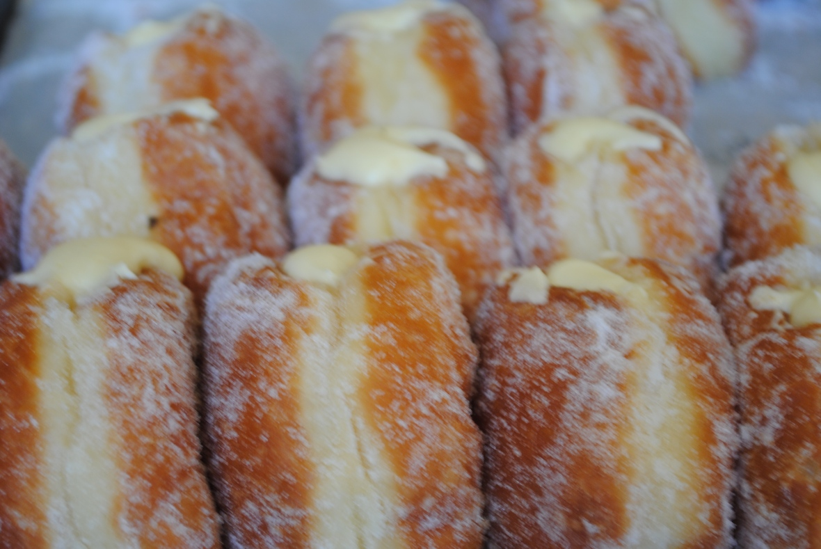 Florentine Doughnuts With Vanilla Custard Recipes — Dishmaps