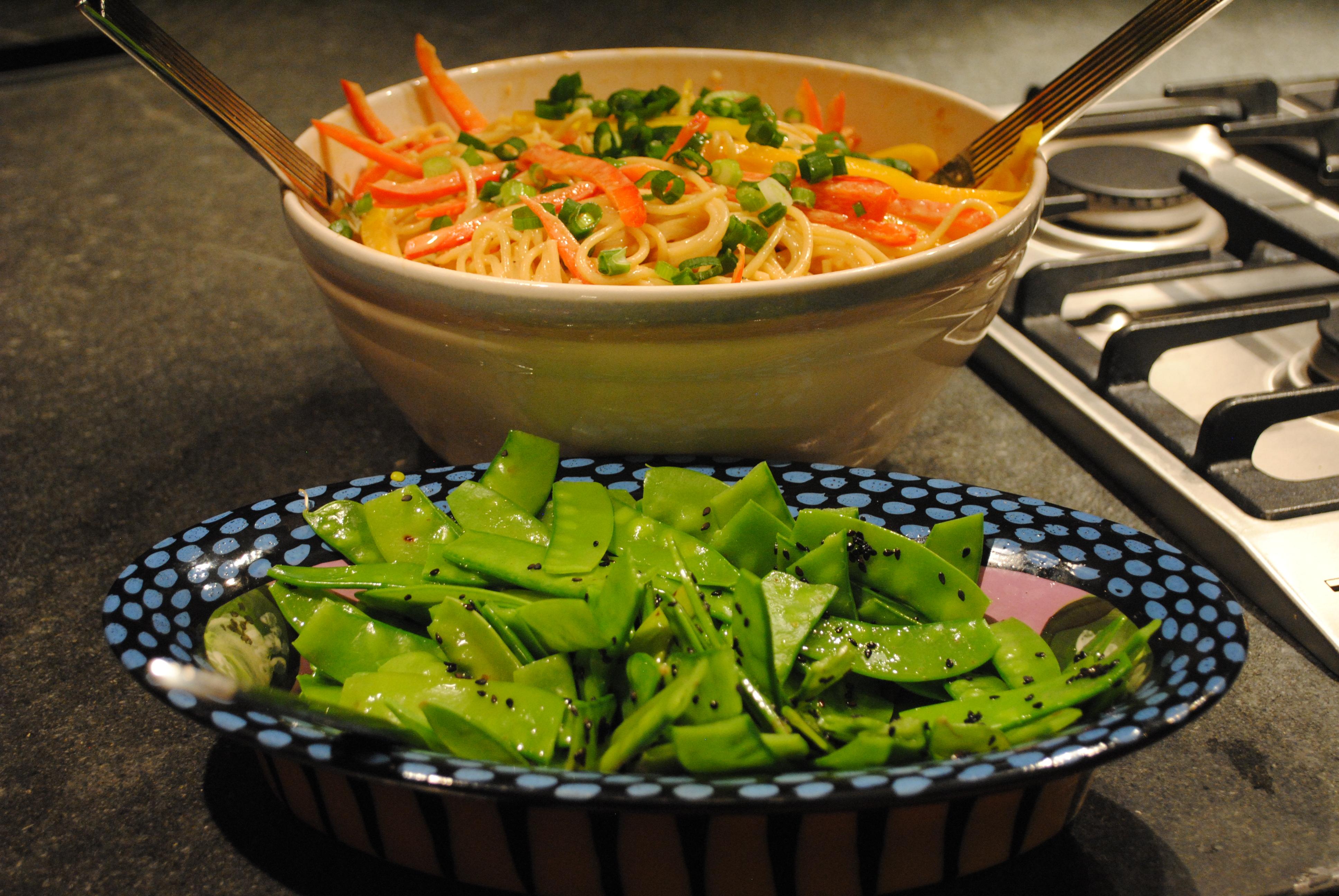 Tale #76 Szechuan Noodles & Sugar Snap Peas with Sesame – The ...